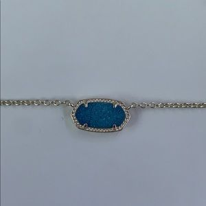 Elisa Gold Pendant Necklace In Blue Iridescent